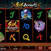 six acrobats slot game