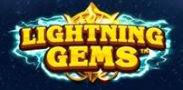 lightning gems slot logo