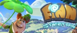 finn and swirly spin slot logo