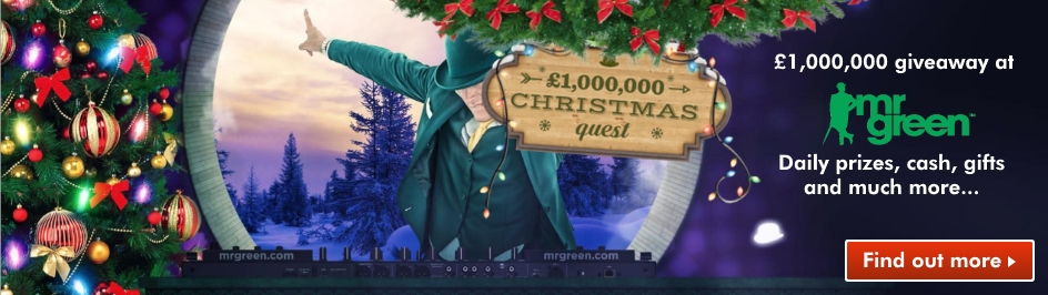 mr green 1m GBP xmas quest promotion
