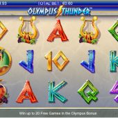 olympus thunder slot game
