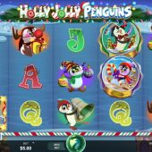 holly jolly penguins slot game