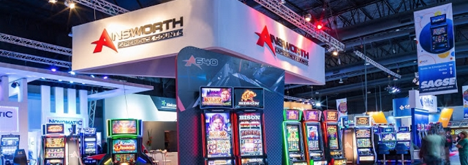 ainsworth stand at gaming show