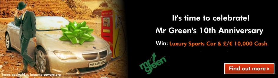 mr green 10 year celebration promotion