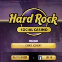 hard rock social casino login screen