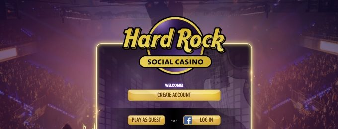 hard rock social casino login screen