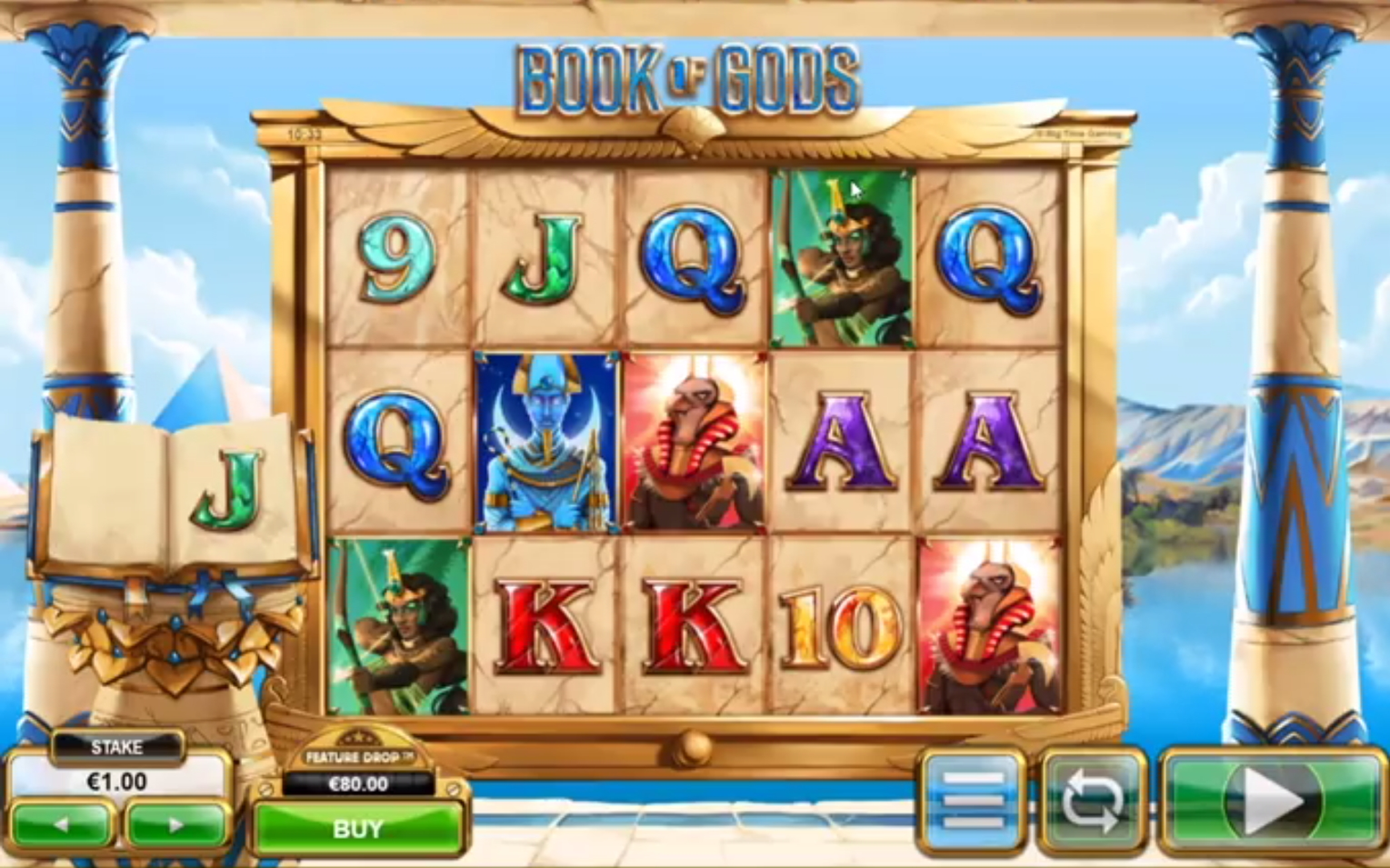 Sep 10, · Book of Gods by Big Time Gaming is a slot machine which consists of 5 reels, paylines, and 3 rows.It represents a vintage book type.The casinos online have made it available for the gamers of all levels from around the world.It mainly features drop choice and cloning symbols.It is an ancient video slot with engaging gameplay.4/10(6).