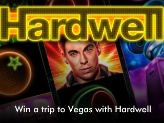 win a trip to vegas in 2018 with Hardwell mobile slider