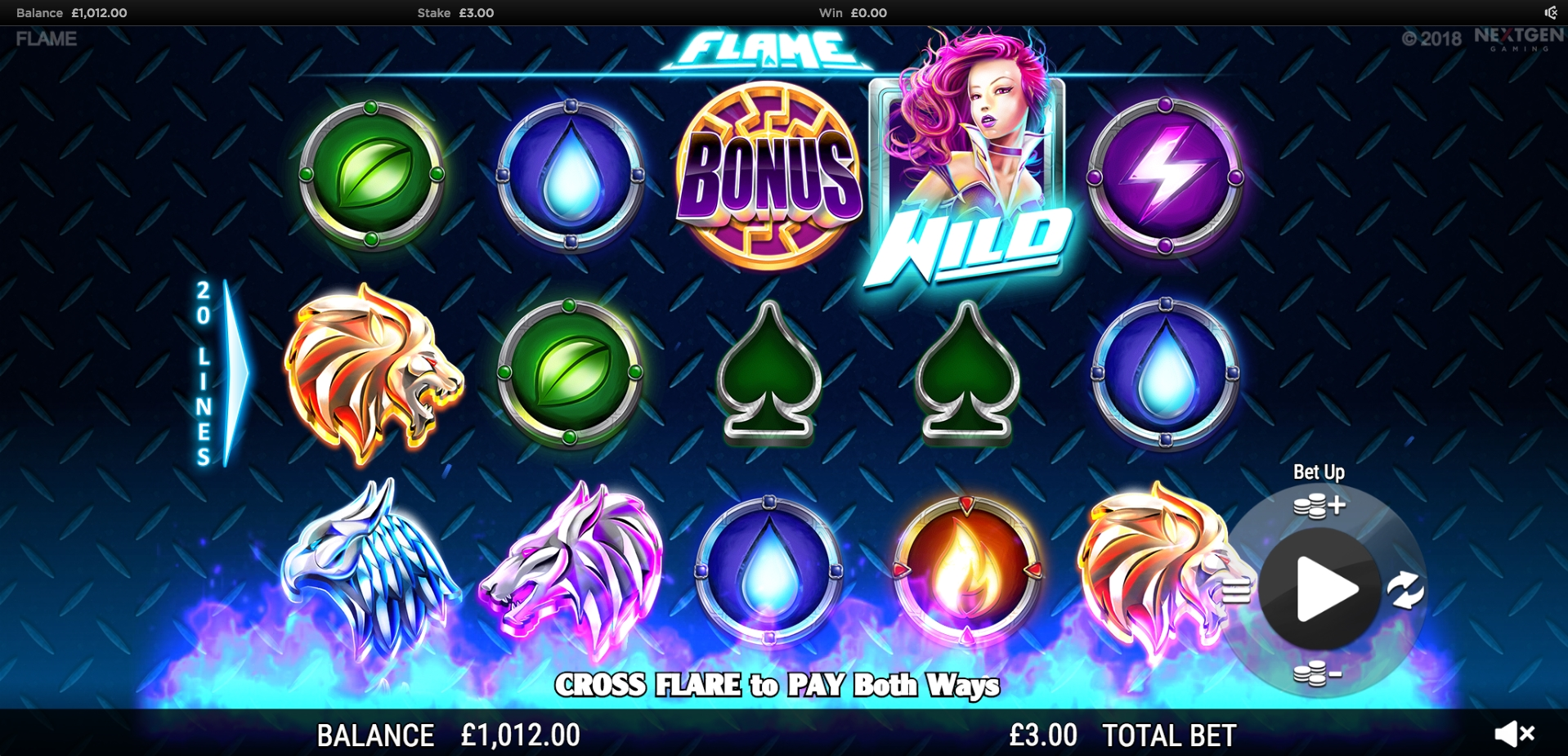 Flame online slot (NextGen Gaming) review and free play