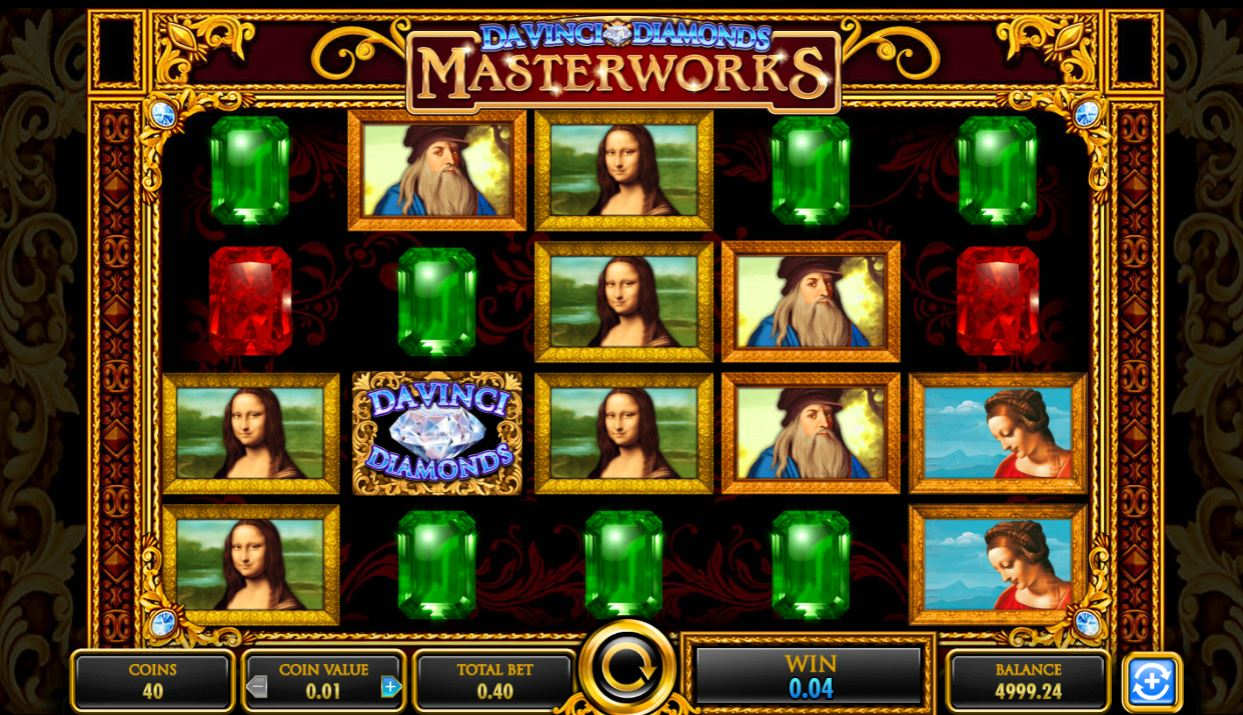 Da Vinci Diamonds Masterworks Slot From Igt Play Free Game