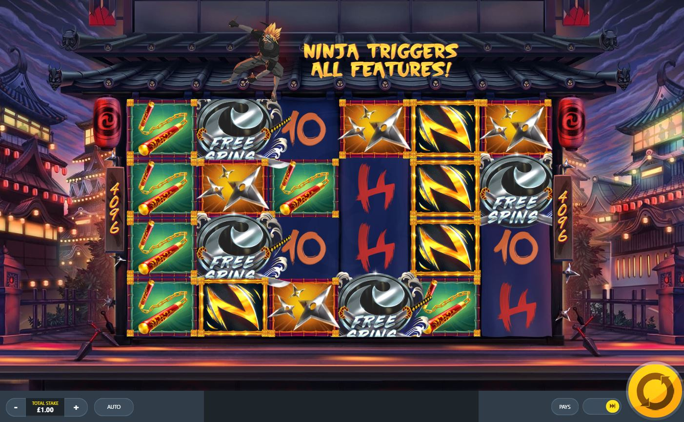 Covert Japenese Themed Ninja Slot