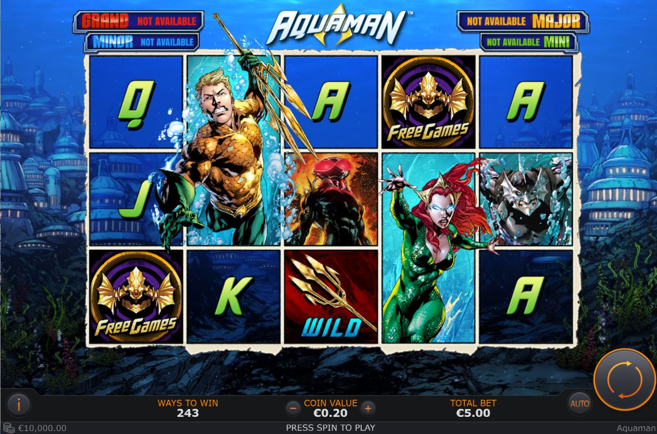 Spiele Aquaman - Video Slots Online