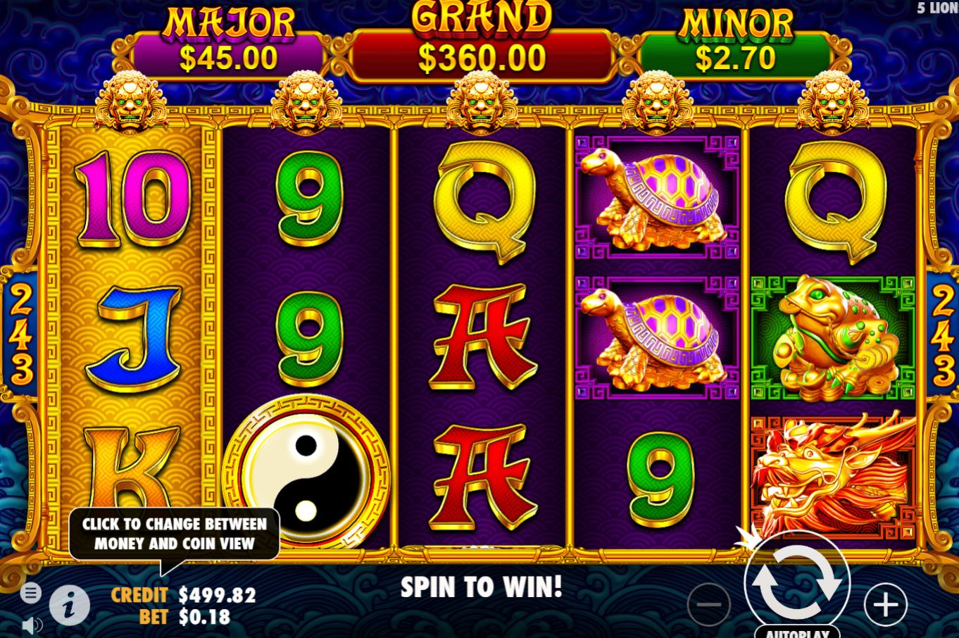 5 Lions Gold slot by Pragmatic Play can pay up to 7000x bet!