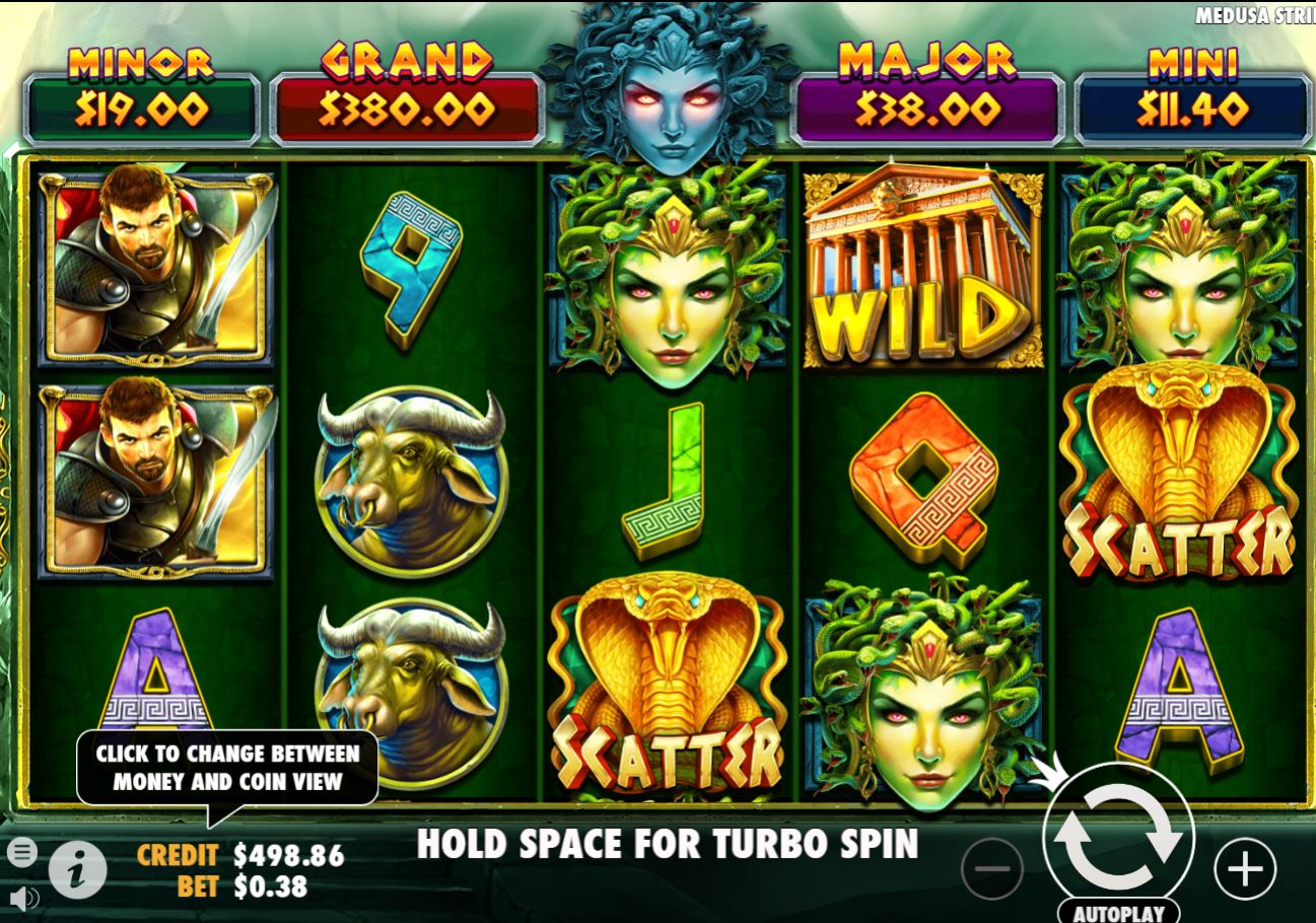 Medusa Strike slot by Pragmatic Play see free demo and review