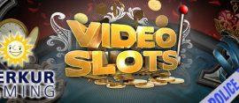 videoslots.com logo merkur gaming police tape