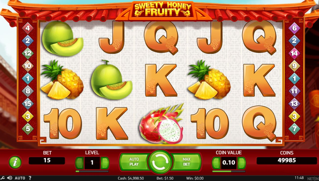 Sweety Honey Fruity slot by Netent review & free play demo
