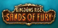 Cover art for Kingdoms Rise Sands of Fury slot