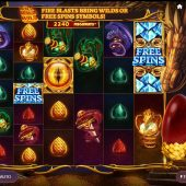 dragons fire megaways slot game