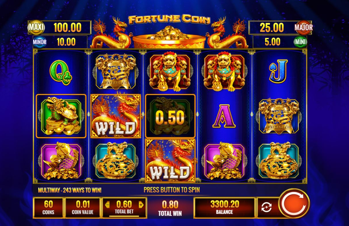 Fortune Coin slot by IGT 243-way with 3 bonuses, full review