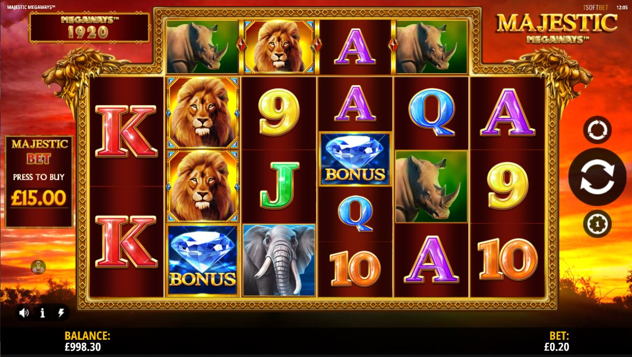Majestic Megaways slot by iSoftBet full details and review