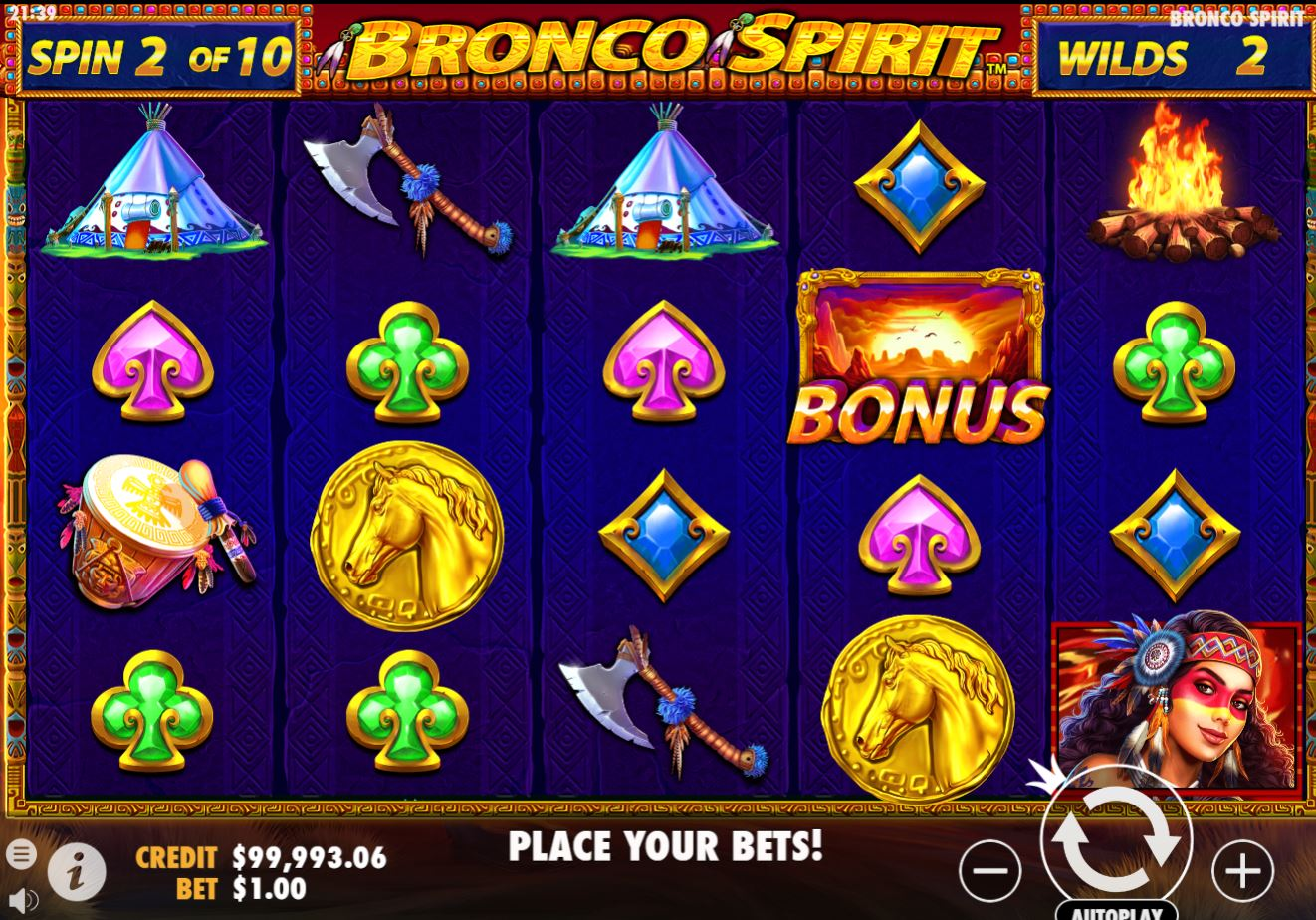 Bronco Spirit slot by Pragmatic Play free-play demo, review