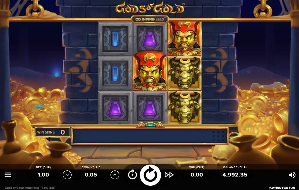 Gods Of Gold Infinireels Slot Machine