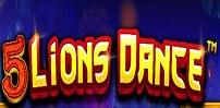 5 lions dance slot logo