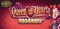 queen of hearts megaways slot logo