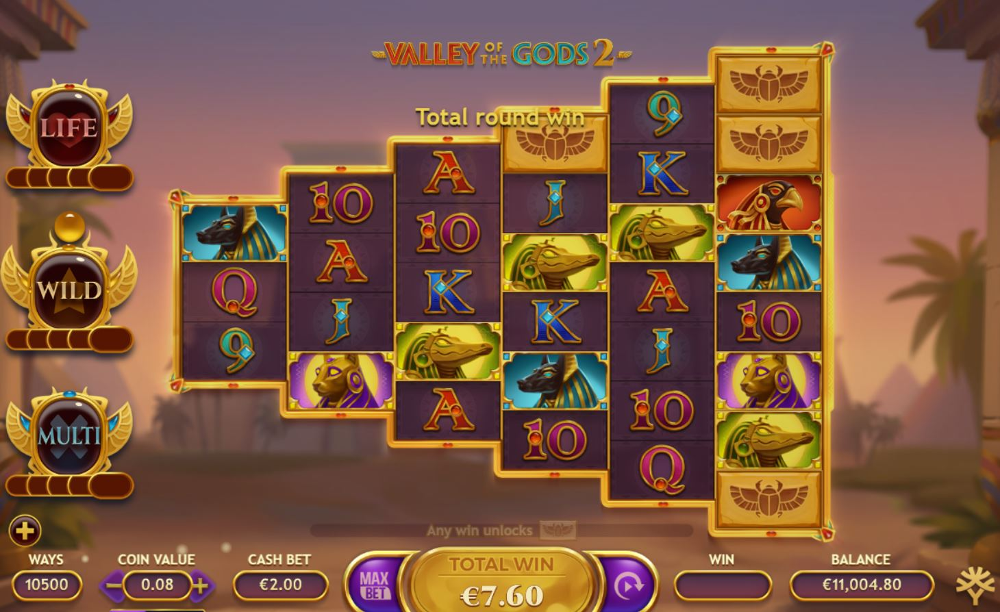 Valley of the Gods Free Play Slot Demo