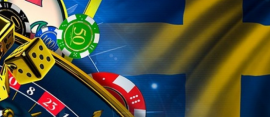 sweden flag and casino icons