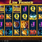 lion thunder slot game