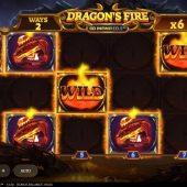 dragons fire infinireels slot game