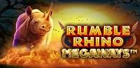 rumble rhino megaways slot logo